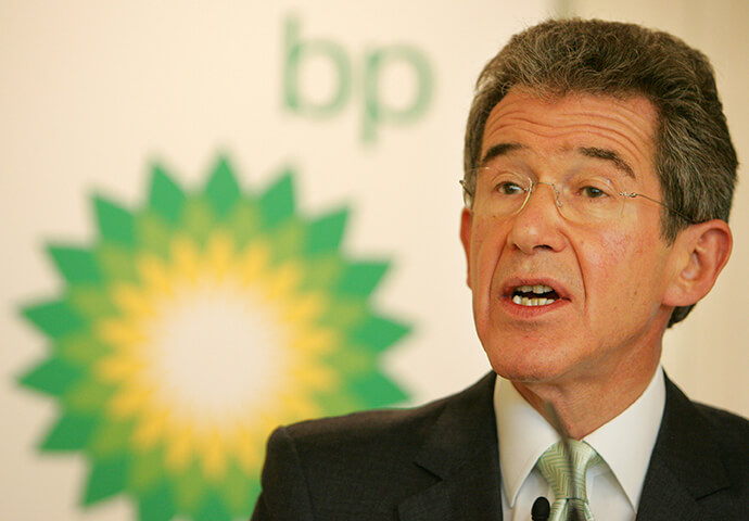 John Browne the former chief executive of BP