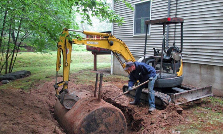 A Quick Guide To Removing An Underground Oil Tank | Peak Oil